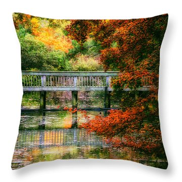 Throw Pillow featuring the photograph Window Into Autumn by Ola Allen