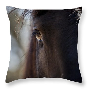 Window Into The Gentle Giant's Soul Throw Pillow