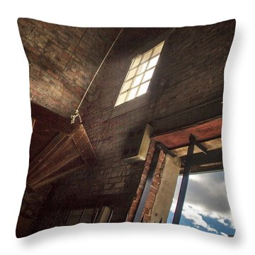 Throw Pillow featuring the photograph Window Into The Past by Phil Mancuso