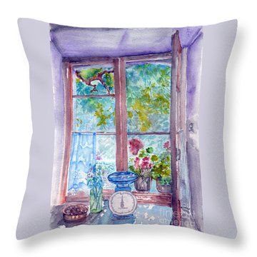 Window Throw Pillow by Jasna Dragun