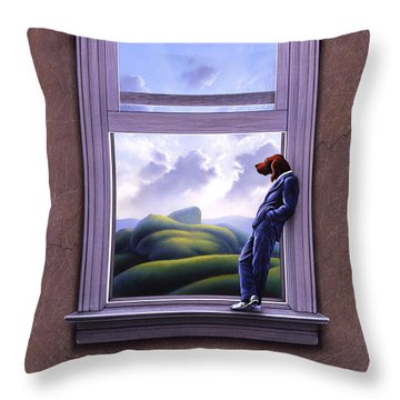 Window Of Dreams Throw Pillow