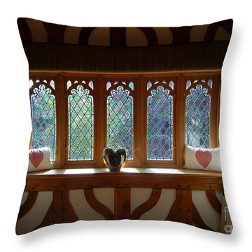 Window Of Hearts Throw Pillow
