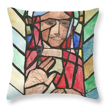 Window Of Peace Throw Pillow