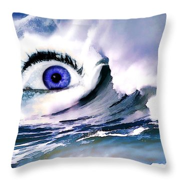 Window Of Your Soul Throw Pillow