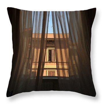 Window On Rome Throw Pillow
