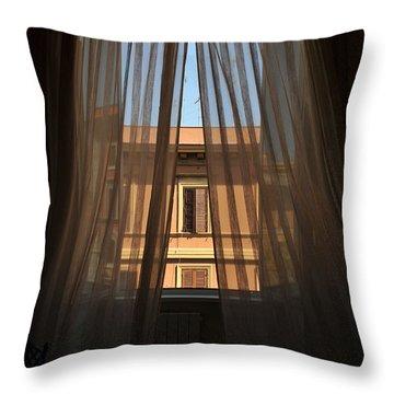 Window On Rome Throw Pillow
