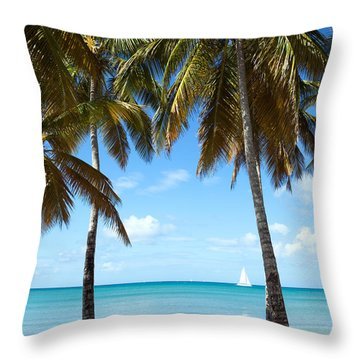 Window On The Caribbean Throw Pillow by Matteo Colombo