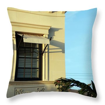 Window On Worth Throw Pillow by George Mount