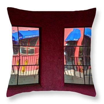 Window Reflections Throw Pillow by Vivian Christopher