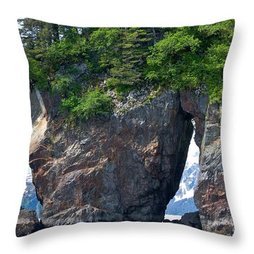 Window Rock Throw Pillow
