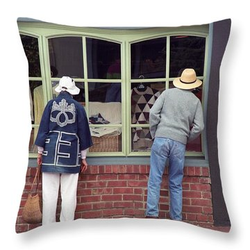 Window Shoppers Throw Pillow