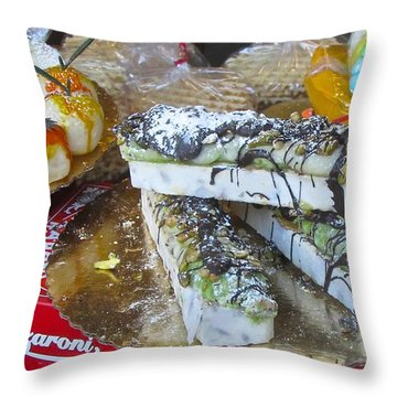 Throw Pillow featuring the photograph Modern Pastry North End Boston by Brenda Pressnall