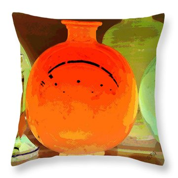 Window Shopping For Glass Throw Pillow