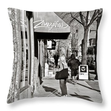 Window Shopping In Lancaster Throw Pillow by Trish Tritz