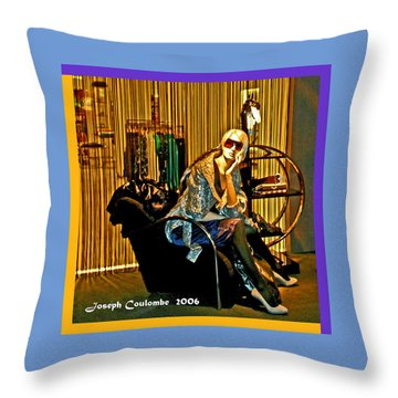 Window Shopping Throw Pillow by Joseph Coulombe