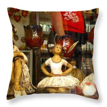 Throw Pillow featuring the photograph Window Shopping by Leena Pekkalainen