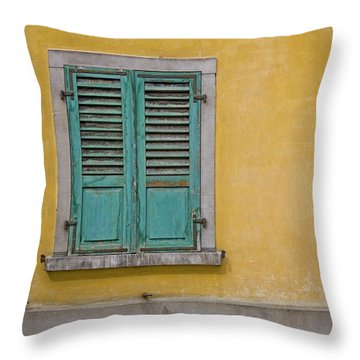 Window Shutter Throw Pillow by Heiko Koehrer-Wagner
