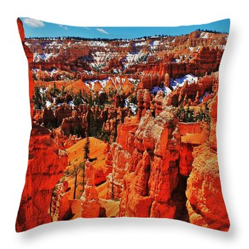Window To Bryce Throw Pillow by Benjamin Yeager