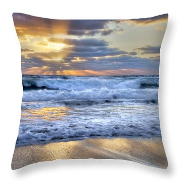 Throw Pillow featuring the photograph Window To Heaven by Debra and Dave Vanderlaan