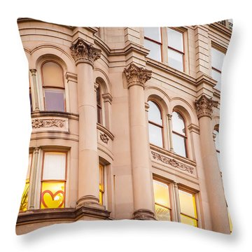 Window To My Heart Throw Pillow by Melinda Ledsome