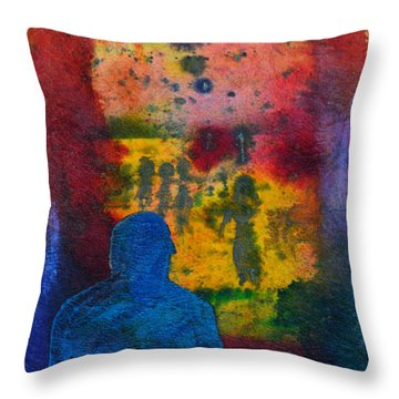 Window To The Other Side Throw Pillow by Donna Blackhall