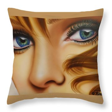 Window To The Soul Throw Pillow