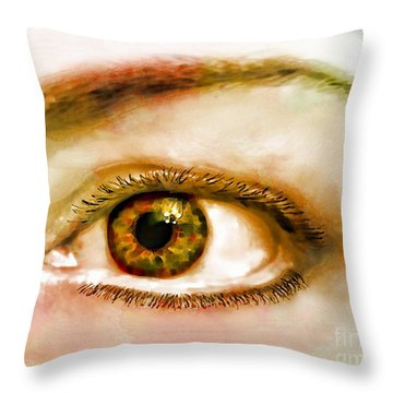 Window To The Soul II Throw Pillow by Debbie Portwood