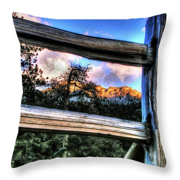 Window To Twin Sisters Throw Pillow