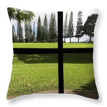 Throw Pillow featuring the photograph Window View  by Alohi Fujimoto