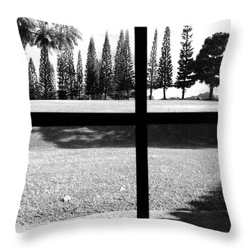 Throw Pillow featuring the photograph Window View - Edit by Alohi Fujimoto