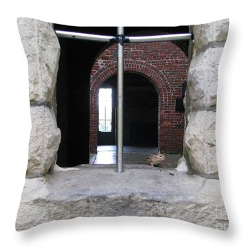 Window Watcher Throw Pillow by Michael Krek