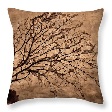Windowpane Coral Throw Pillow