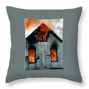 Windows Aflame Throw Pillow