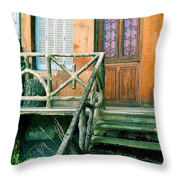 Throw Pillow featuring the photograph Windows And Doors 25 by Maria Huntley