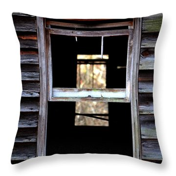 Windows Throw Pillow by Carlee Ojeda