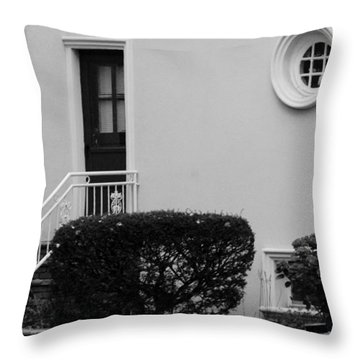 Windows In The Round In Black And White Throw Pillow by Rob Hans