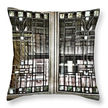 Windows Of A Prairie House  Throw Pillow