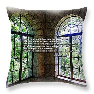 Windows Of Heaven Throw Pillow