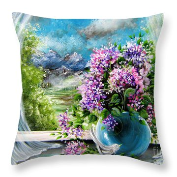 Windows Of My World Throw Pillow by Patrice Torrillo