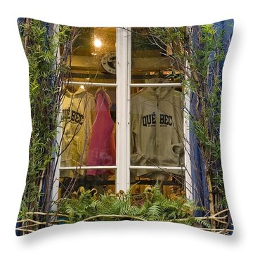 Windows Of Quebec 3 Throw Pillow