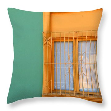 Windows Of The World - Santiago Chile Throw Pillow