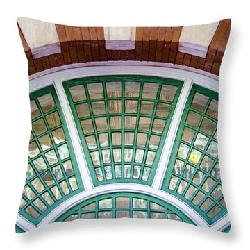 Windows Of Ybor Throw Pillow by Carolyn Marshall