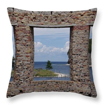Windows On Snail Shell Harbor Throw Pillow