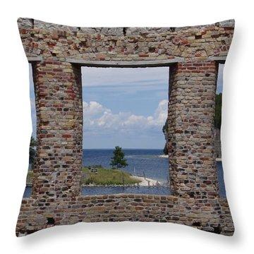 Windows On Snail Shell Harbor Throw Pillow