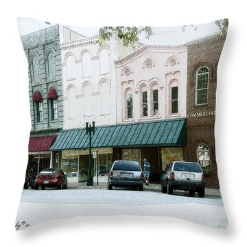 Windows On The Square Throw Pillow