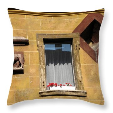 Windows To Budapest Throw Pillow by Judith Morris