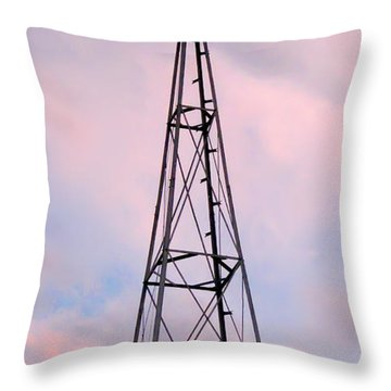 Throw Pillow featuring the photograph Windpump by Brian Wallace