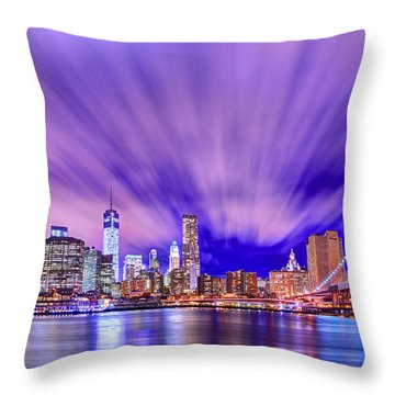 Winds Of Lights Throw Pillow