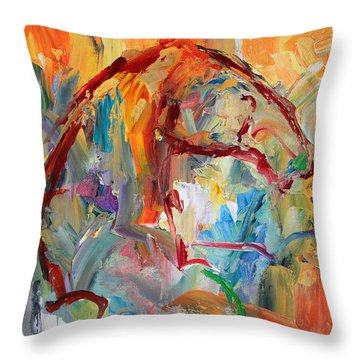 Windstorm  Horse  28 2014 Throw Pillow