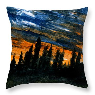 Windstorm At Dusk Throw Pillow